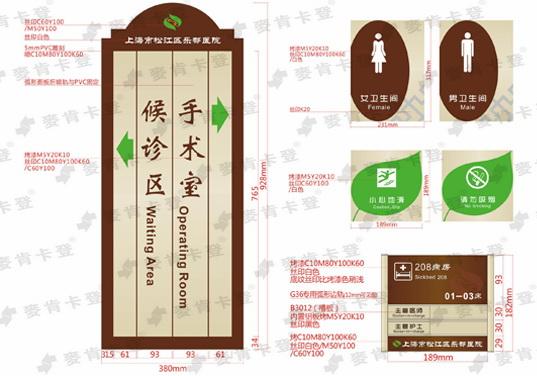 上海医院万博体育登录入口牌设计