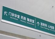 医院单面平面指示吊牌万博manbetx手机端登录