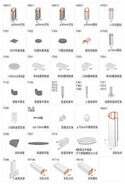 户外型材—立柱及配件、落地弧度型牌系列万博体育登录入口材料